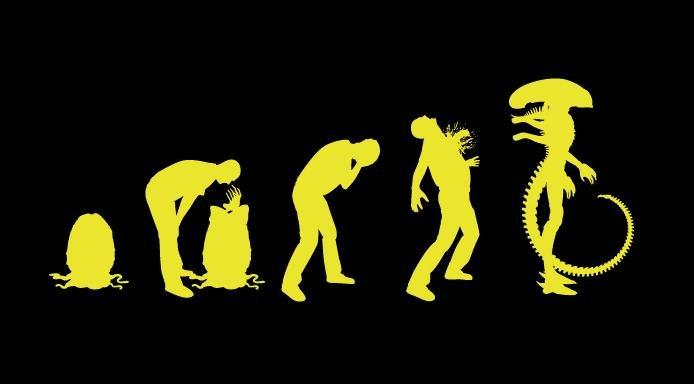 evolution - alien