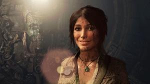 Lara croft smiling